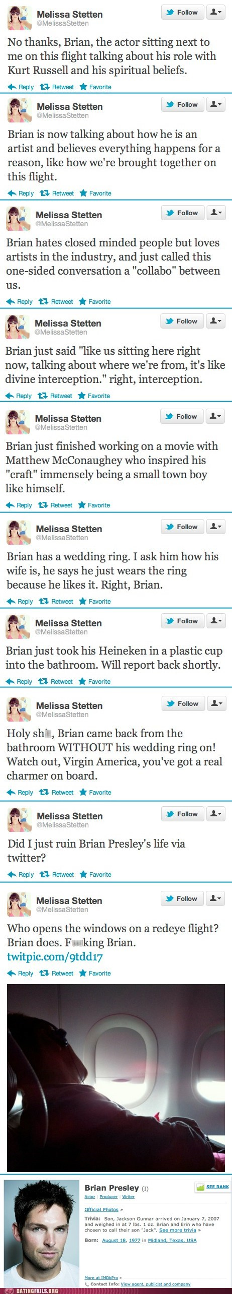 actors,brian,brian presley,failbook,flirting,married,melissa stetten
