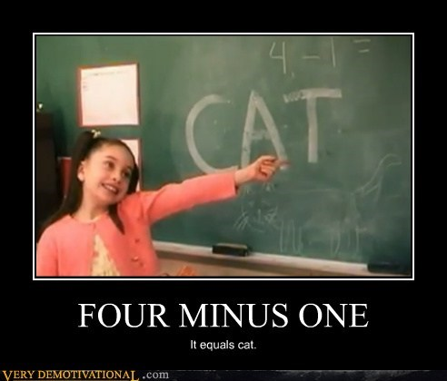 cat idiots kids math wrong