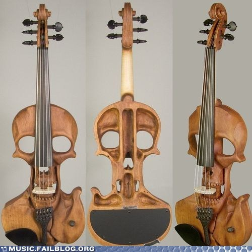 design electric violin instrument skull violin