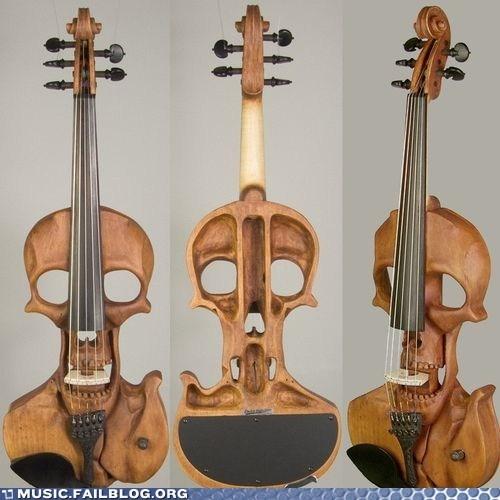 design electric violin instrument skull violin - 6303888640