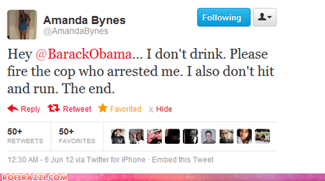 actor Amanda Bynes barack obama celeb funny politics tweet twitter - 6303969024
