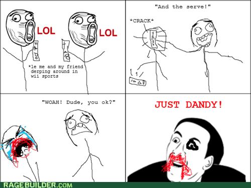 injury,Rage Comics,video games,you dont say