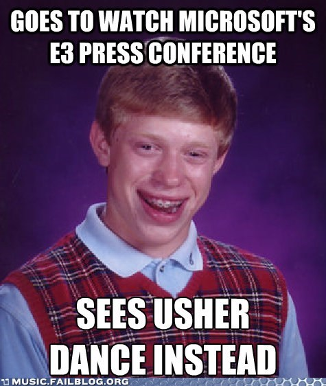 bad luck brian e3 meme usher video games