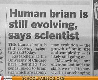 g rated human brain human brian School of FAIL science still evolving - 6304159744