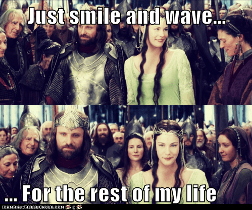 aragorn,disappointment,eowyn,life,liv tyler,Lord of The Ring,Lord of the Rings,Sad,smile,the rest,viggo mortensen,wave