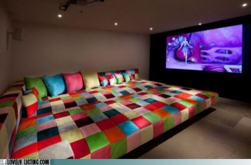 bed couch screen soft theater - 6304221952