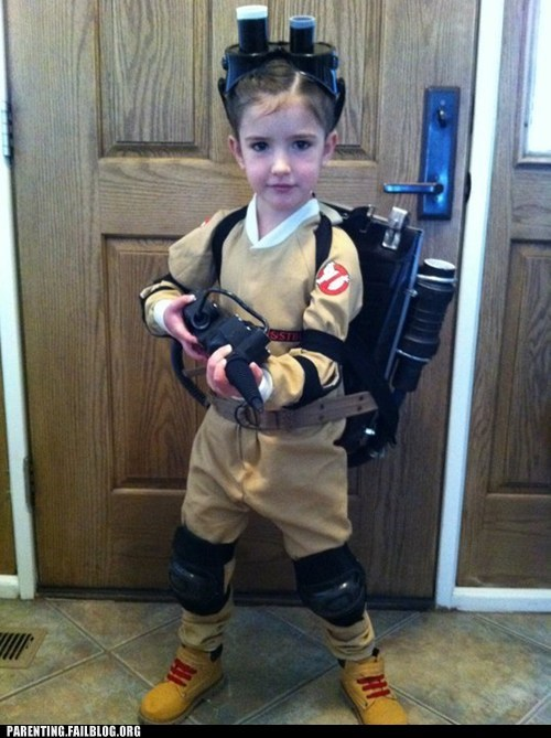Ghostbusters,halloween,kids in costumes