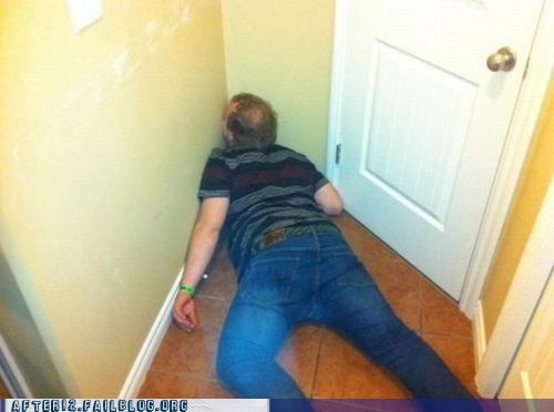 blackout,passed out,unconscious,wall