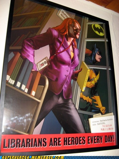 Awesome Art batgirl books librarian - 6304545024
