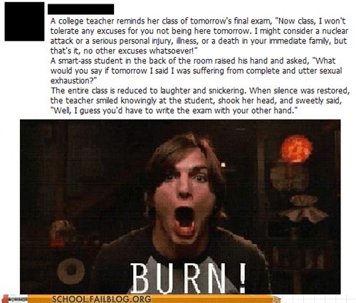 backtalking burn college professor final exam sexual exhaustion - 6304705024