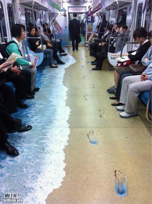 beach,design,illusion,Subway,vacation