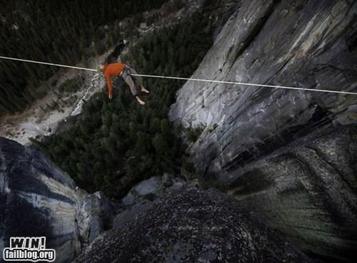 balance cliff oh god why slackline vertigo