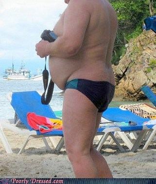 beach,fat,gut,oh god why,speedo