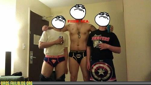 batman bros captain america g rated superheroes superman underwear - 6305880320