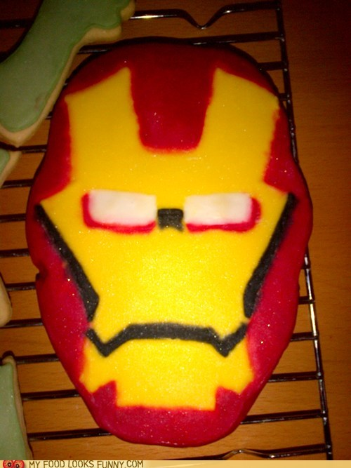 avengers,cookies,icing,iron man