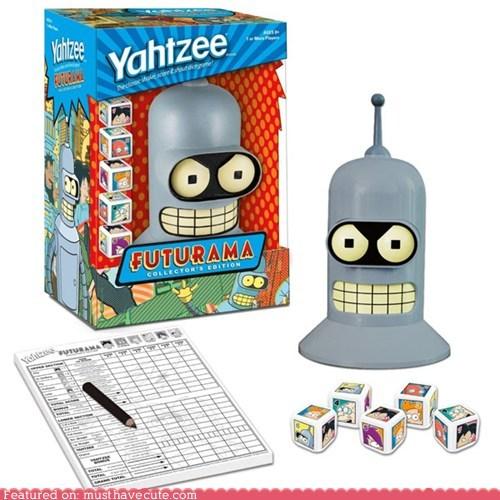bender futurama head robot shaker yahtzee - 6306321664