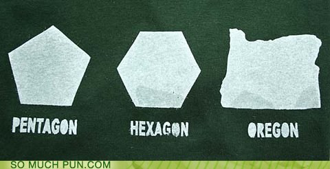 double meaning,gon,Hall of Fame,hexagon,misinterpretation,oregon,pentagon,polygon,shape,suffix