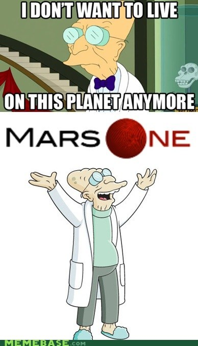 dr-farnsworth futurama mars one science space station