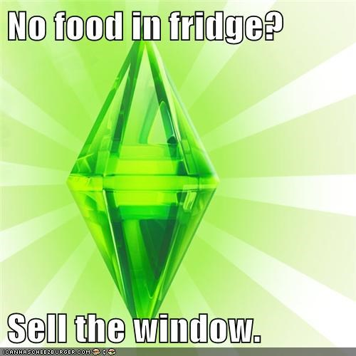 food,fridge,sales,The Sims,window