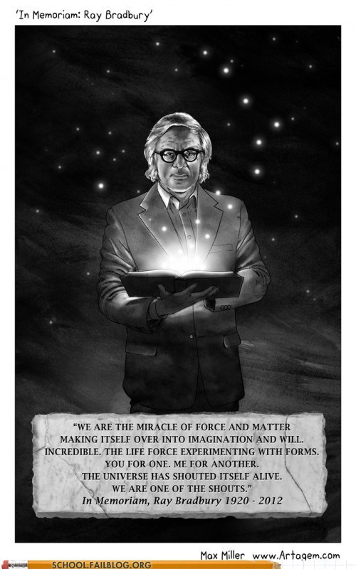 famous authors In Memoriam ray bradbury - 6307087616
