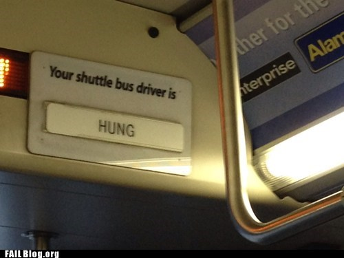 bus,bus driver,hung,shuttle,sign