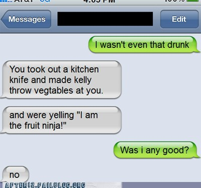 drunk fruit ninja phone sms text text message text msg texting txt msg vegetables - 6307275008