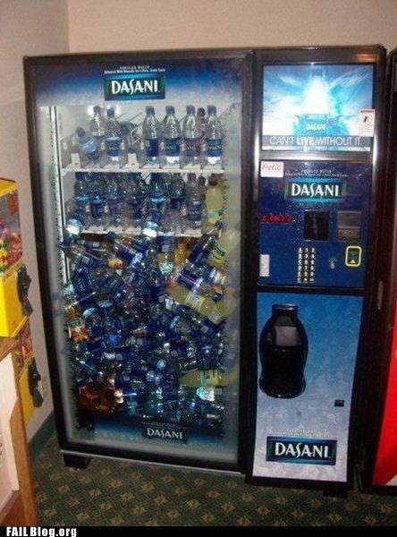 dasani,vending machine,water bottles