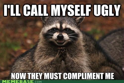 compliments Memes raccoon ugly - 6307410176