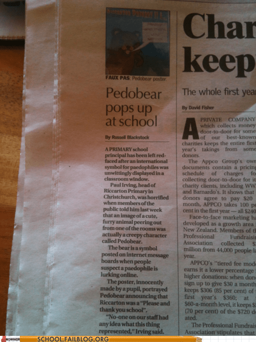 cant-be-stopped,newspapers,pedobear,School of FAIL