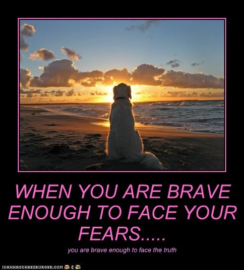 WHEN YOU ARE BRAVE ENOUGH TO FACE YOUR FEARS..... you are brave enough to face the truth