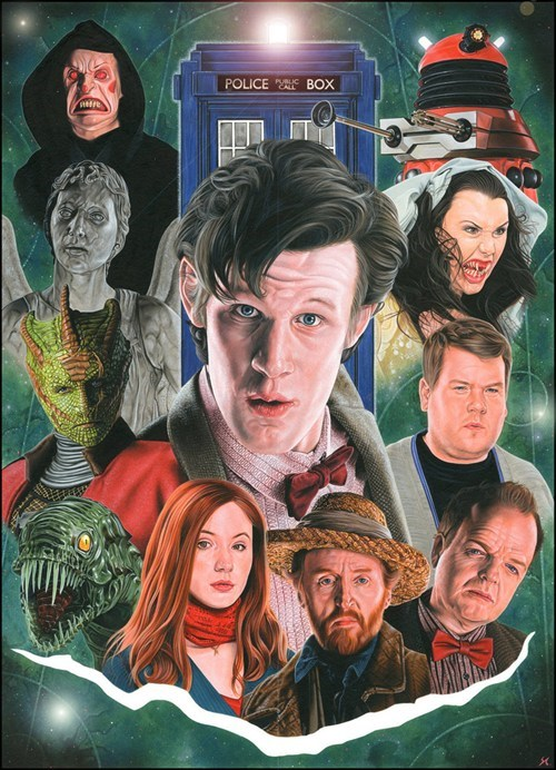bbc doctor who Fan Art Matt Smith scifi season 5 - 6307514624