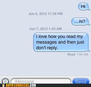 imessage iPhones not reply take the hint - 6307519744