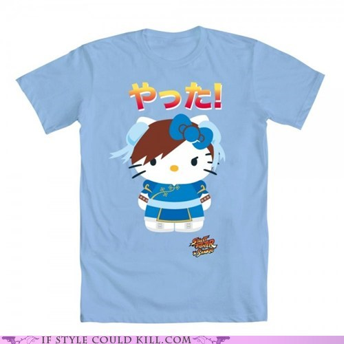 cool accessories hello kitty Street fighter t shirts - 6307553792