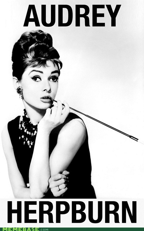 Audrey Hepburn breakfast-at-tiffanys celeb derp derpette