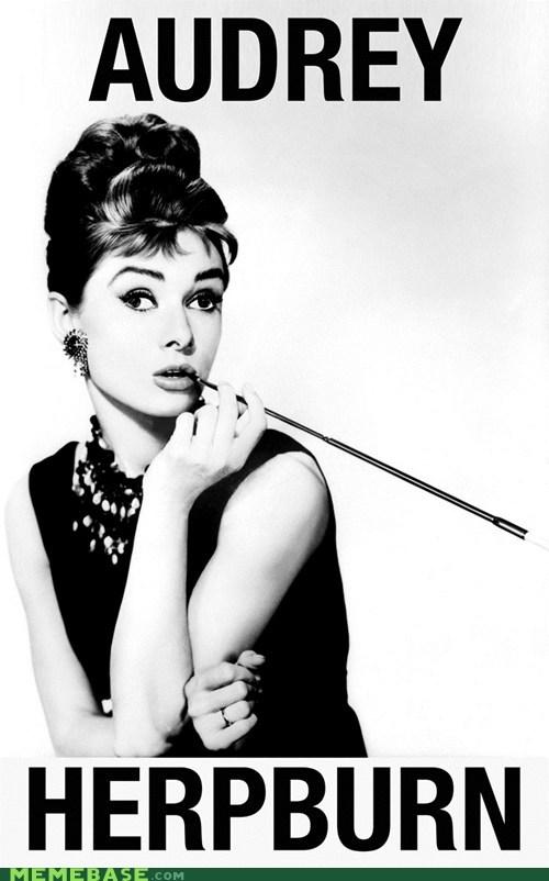 Audrey Hepburn breakfast-at-tiffanys celeb derp derpette - 6307559168