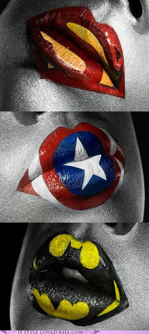 batman comics cool accessories lips makeup The Avengers - 6307575808