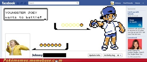 Battle,facebook,facebook timeline,IRL,youngster joey