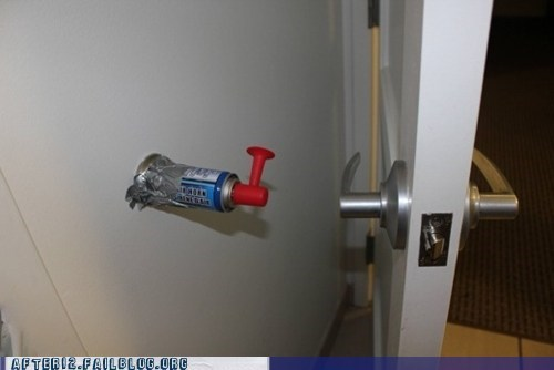air horn,door,door knob,scare horn