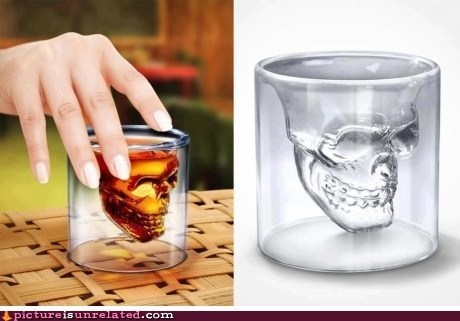 awesome best of week drinking shot glasses skull wtf - 6307712000