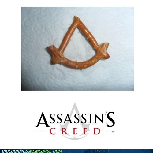 assassins creed food IRL pretzel - 6307712768