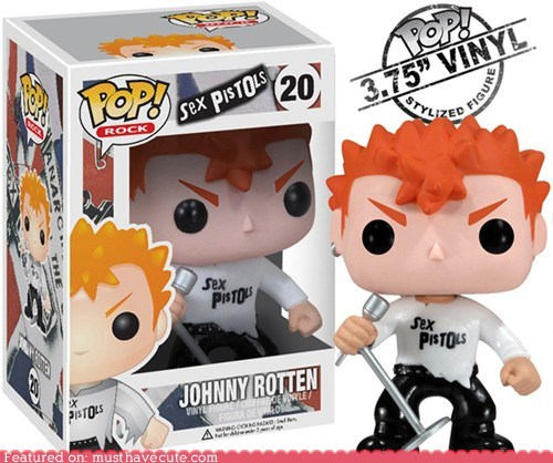 action figure johnny rotten sex pistols vinyl - 6307726336