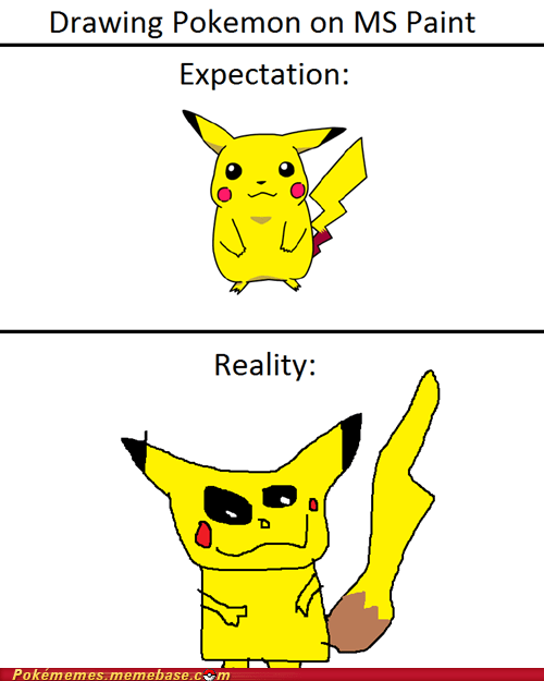 art,mad skills,ms paint,pikachu