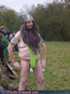 au naturale dude parts mankini oh god why viking