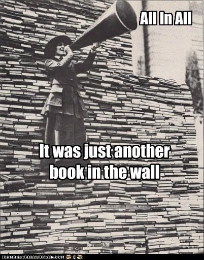 books historic lols megaphone pink floyd wall - 6307951616