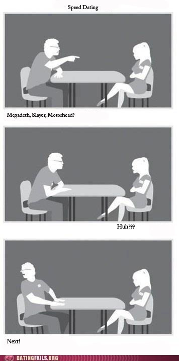 megadeth,metal,Motörhead,slayer,speed dating