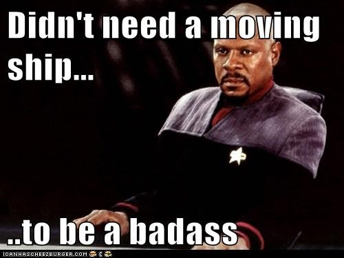 captain sisko,avery brooks,ship,Badass,Deep Space Nine,Star Trek
