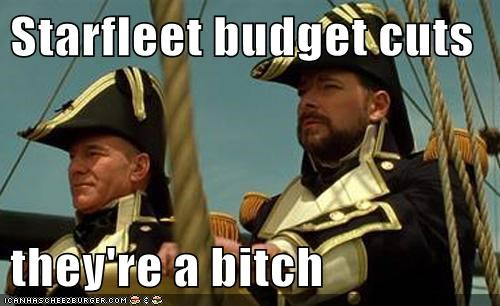 budget cuts Captain Picard Jonathan Frakes navy old patrick stewart Star Trek uniforms william riker - 6308057088