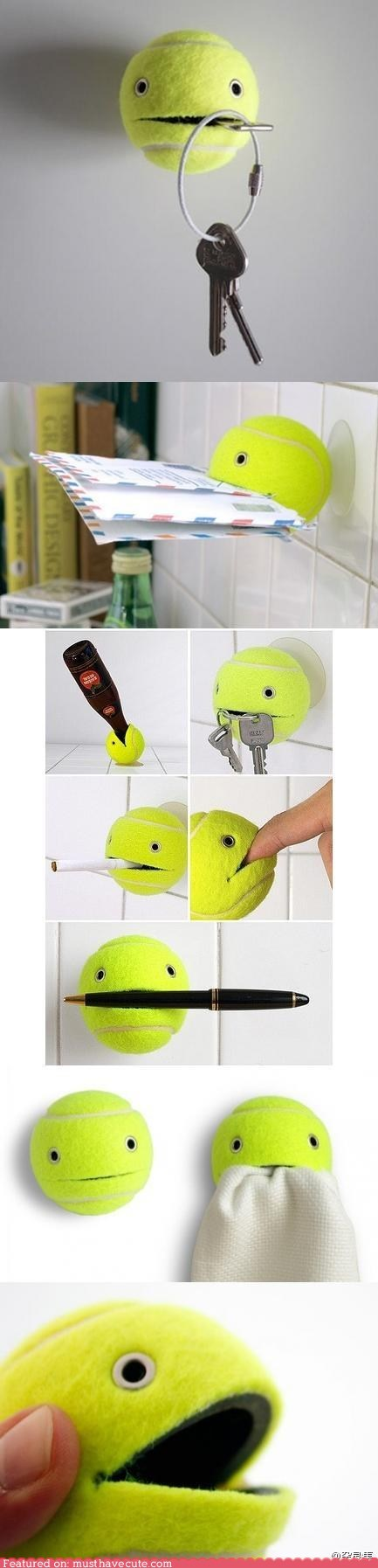 face helpful hold suction cup tennis ball - 6308073984