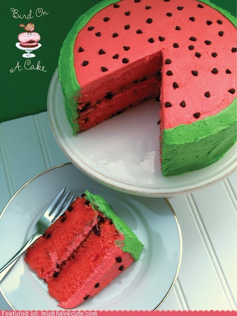 cake epicute pink seeds summer watermelon - 6308118784