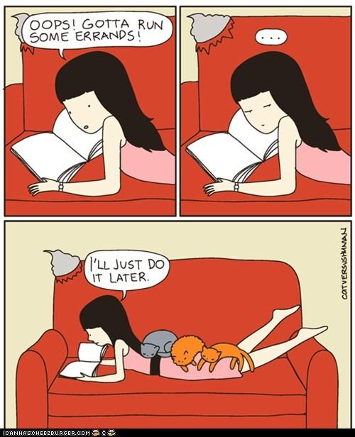 annoying cat versus human Cats comic comics in the way on top procrastination - 6308185088